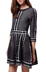 Women's Topshop 'Premium' Fit And Flare Sweater Dress
