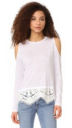 Generation Love Angela Cold Shoulder Long Sleeve White