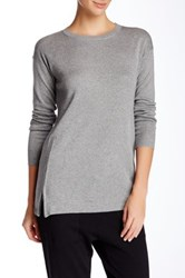 Cullen Double Knit Side Zip Tunic Gray