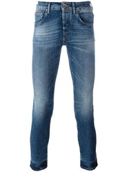 Jacob Cohen Stonewashed Skinny Jeans Blue