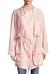 Equipment Hooded Long Sleeve Jacket Rose