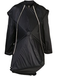 Rick Owens Deconstructed Umbrella Coat Black