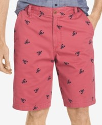 Izod Men's Lobster Print Shorts Saltwater Red