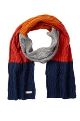 Bench Total Eclipse Zigzag Knit Scarf Blue