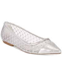 Adrianna Papell Jewel Evening Flats Women's Shoes Silver
