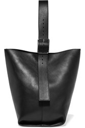 Theory Hobo Leather Shoulder Bag Black