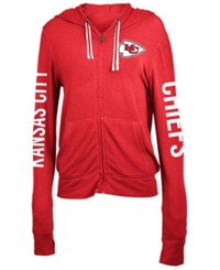 5Th And Ocean Women's Kansas City Chiefs Full Zip Hooded Sweatshirt Red
