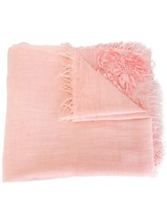 Ermanno Scervino Lace Detail Scarf Pink And Purple