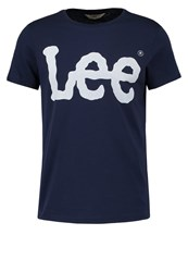 Lee Logo Tee Print Tshirt Navy Dark Blue