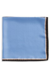 Men's J.Z. Richards Silk Pocket Square Blue