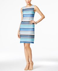 Styleandco. Style And Co. Sleeveless Printed Sheath Dress Only At Macy's Turquoise