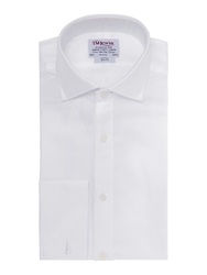 T.M.Lewin Plain Luxury Herringbone Windsor Shirt White