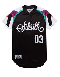 Sik Silk Siksilk Tri Colour Sleeve Base T Shirt Black