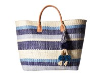 Hat Attack Provence Tote Blues Stripe Tote Handbags Multi