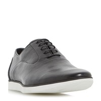Dune Boston Casual Wedge Sole Oxford Shoes Black