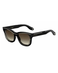 Givenchy Square Metal Trim Sunglasses Black