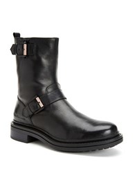 Calvin Klein Kris Brushed Calf Leather Boots Black