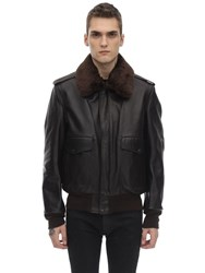 Schott 184 Leather Jacket Brown