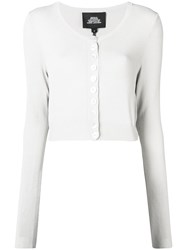 Marc Jacobs Cropped Buttoned Cardigan Neutrals