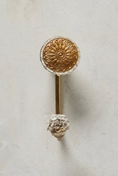 Anthropologie Imprinted Medallion Hook White
