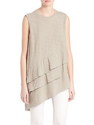 Wilt Asymmetrical Tiered Sleeveless Tunic Grey