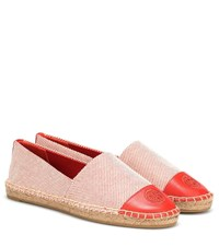 Tory Burch Canvas And Leather Espadrilles Red