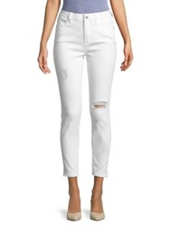 Candc California High Rise Ankle Jeans White
