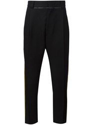 Haider Ackermann Lateral Stripe Tapered Trousers Black
