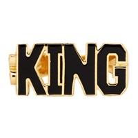 Dolce And Gabbana Gold 'King' Ring
