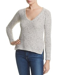 Splendid V Neck Pullover Sweater Linen