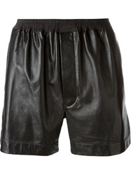 Rick Owens Leather Boxer Shorts Black