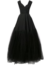 Christian Siriano Off Shoulder Tulle Gown Black