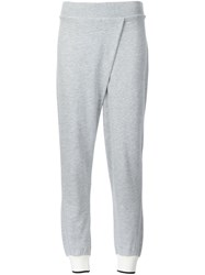 Rag And Bone Front Pleat Track Pants Grey
