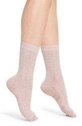 Treasure And Bond Marled Knit Crew Socks Pink Storm