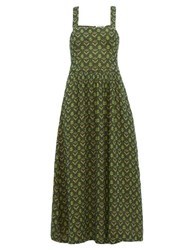 Ace And Jig Willa Cross Over Cotton Dress Green Multi