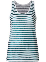 Majestic Filatures Striped Tank Top White