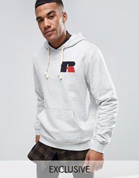Russell Athletic Hoodie With Chenille Logo Grey
