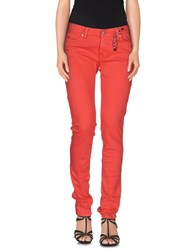 Tommy Hilfiger Denim Denim Denim Trousers Women Red