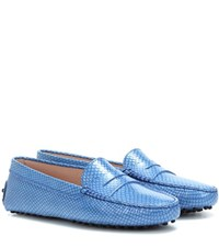 Tod's Gommino Moccasins Blue