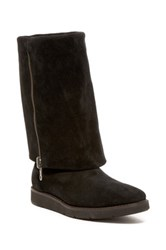 Johnston And Murphy Bree Foldover Cuff Boot Black
