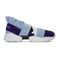 Emilio Pucci Blue And Black City Up Sneakers