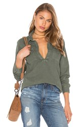 Mother Frenchie Frenchie Slipover Top Olive