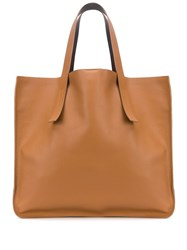P.A.R.O.S.H. Pebbled Effect Tote Bag Brown