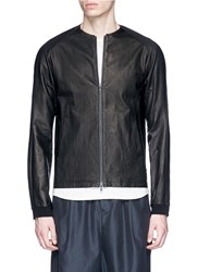 Devoa Deerskin Leather Jacket Black