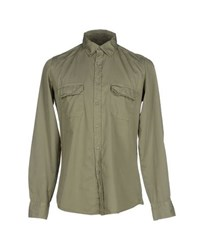 Siviglia Denim Shirts Shirts Men Military Green