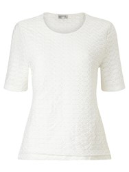Eastex Texture Jersey Top White
