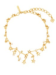 Oscar De La Renta Constellation Crystal Embellished Necklace Gold