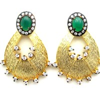 Meghna Jewels Saya Earrings Gold