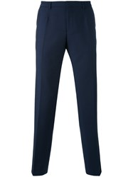 Hugo Boss Tailored Trousers Men Mohair Virgin Wool 50 Blue