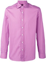 Massimo Piombo Mp Striped Shirt Pink Purple
